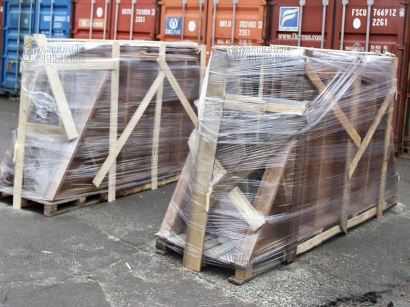 фото беседки в жесткой упаковки для доставки в ТК